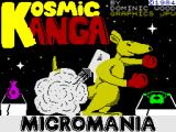 Kosmic Kanga ZX Spectrum Loading Screen