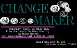 Change Maker DOS Title screen