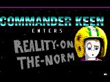 Commander Keen Enters Reality-on-the-Norm Windows Title Screen
