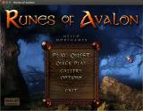 Runes of Avalon Linux Title and main menu