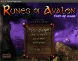 Runes of Avalon: Path of Magic Linux Title and main menu