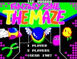 Fantasy Zone: The Maze SEGA Master System Title