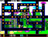 Fantasy Zone: The Maze SEGA Master System Touch the enemy's energy to stop them from entering maze