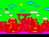 Fantasy Zone: The Maze SEGA Master System Flying through Tabas