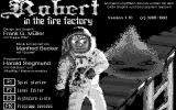 Robert in the Fire Factory Atari ST Title screen (Monochrome monitor)