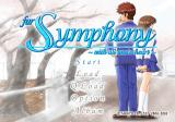 For Symphony: With All One's Heart PlayStation 2 Main menu