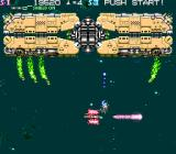 Strato Fighter Arcade Boss appears