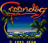 Greendog: The Beached Surfer Dude! Game Gear Title Screen