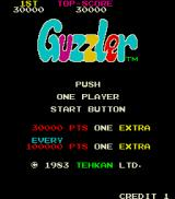 Guzzler Arcade Title screen