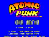 Atomic Punk Arcade American title screen