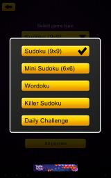 Sudoku Epic Android Mode selection