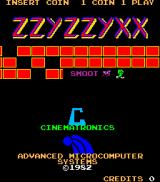 Zzyzzyxx Arcade Title Screen