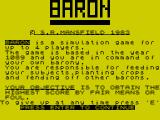 Baron ZX Spectrum Your objective