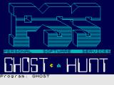 Ghost Hunt ZX Spectrum Loading Screen