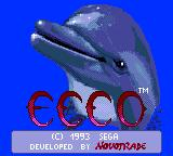 Ecco the Dolphin Game Gear Title