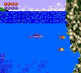 Ecco the Dolphin Game Gear Charge at fish for food