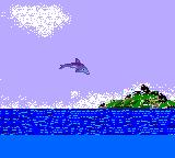 Ecco the Dolphin Game Gear Jumping out the water