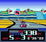 Jeff Gordon XS Racing Game Boy Color Bend to the left