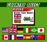 ESPN International Track & Field Game Boy Color Country Select