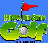 Hole in One Golf Game Boy Color Title Screen