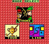 Hole in One Golf Game Boy Color Mode Select