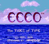 Ecco: The Tides of Time Game Gear Title