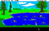The Black Cauldron Apple IIgs Stones in the pond.