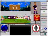 Boong!?: Die ultimatiefe Fußballsimulation Windows 3.x Stadium (this is where the matches happen - you only see the ball moving, the rest is described in text boxes below)