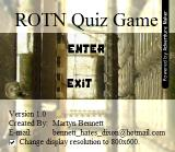 ROTN Quiz Game Windows Title Screen