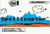 Spellicopter Apple II Title screen