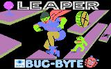 Leaper Atari 8-bit Title screen