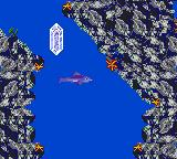 Ecco: The Tides of Time Game Gear Shoot at crystal and