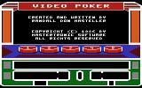 Las Vegas Video Poker Atari 8-bit Main menu