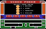 Las Vegas Video Poker Atari 8-bit Select coin value