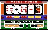 Las Vegas Video Poker Atari 8-bit Holding cards