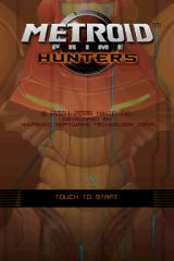 Metroid Prime: Hunters NDS title screen