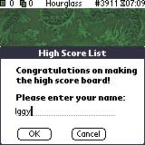 Shanghai Pocket Essentials Palm OS High score (colour)