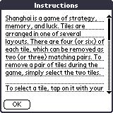 Shanghai Pocket Essentials Palm OS Instructions (colour)