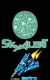 Sky Alert Arcade Title screen