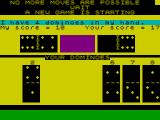 Dominoes ZX Spectrum No more moves for either player