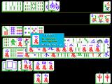 Hong Kong Mahjong DOS Here the player is about to declare and win the hand