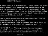 Hong Kong Mahjong DOS The game has an extensive set of help screens