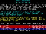 BMX Racers ZX Spectrum Title Screen