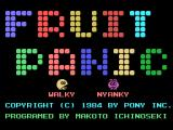 Fruit Panic MSX Title screen