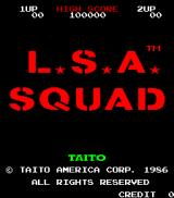 Land Sea Air Squad Arcade Title screen
