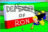 Defender of RON Windows Title Screen