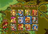 GunMaster Arcade Enemy select, all 12 have visible rankings for their difficulty, you can fight them in any order you want