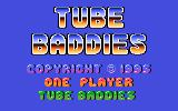 Tube Baddies Atari 8-bit Title screen