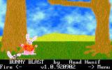 Bunny Blast DOS The game in progress showing a bunny being blasted