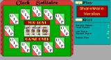 Clock Solitaire DOS Game Over. The game leaves the player in no doubt whether they have won or lost